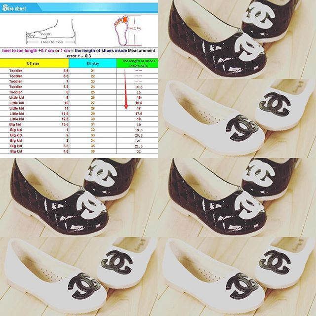 Size Chart For The Chanel Shoes Listed Previously Raffaello