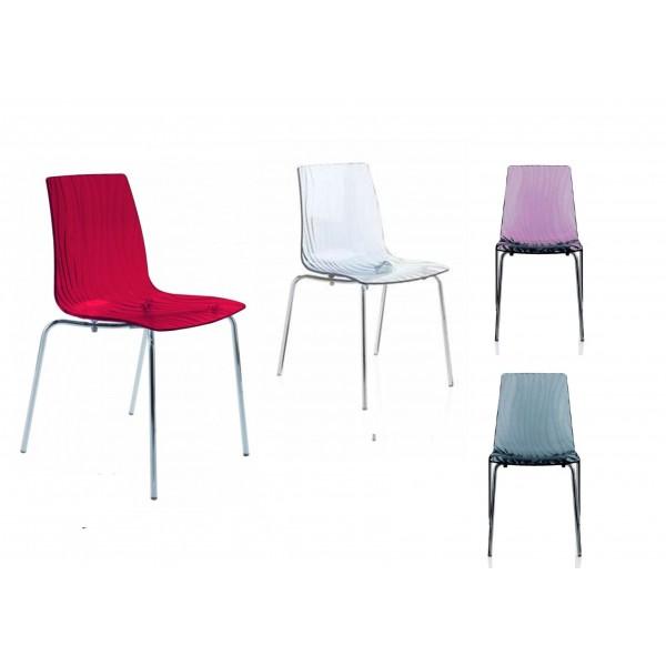 Sedia in policarbonato modello Calima. Elegante, robusta, comoda e ...