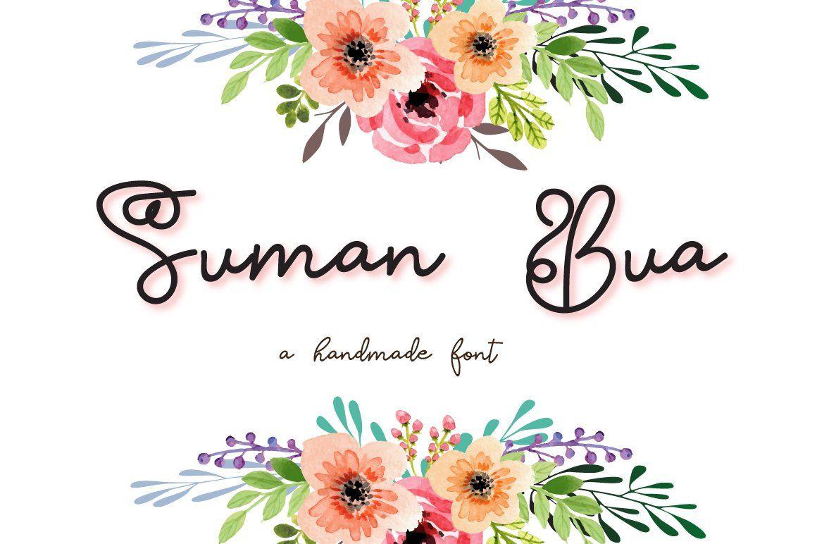 Suman Bua Script Font in 2020 Signature fonts