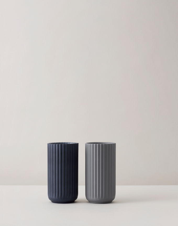 Lyngbyvasen in Midnight Blue & Grey #porcelænsfabrikkendanmark #monogram #original