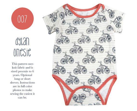 007 Dylan Bodysuit Onesie PDF Sewing Pattern Infant Baby Kid Boy ...