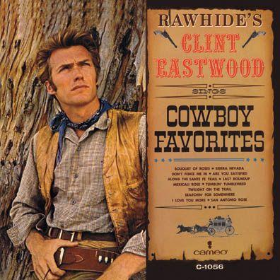 Clint Eastwood, Cowboy Favorites, LP cover (1963)