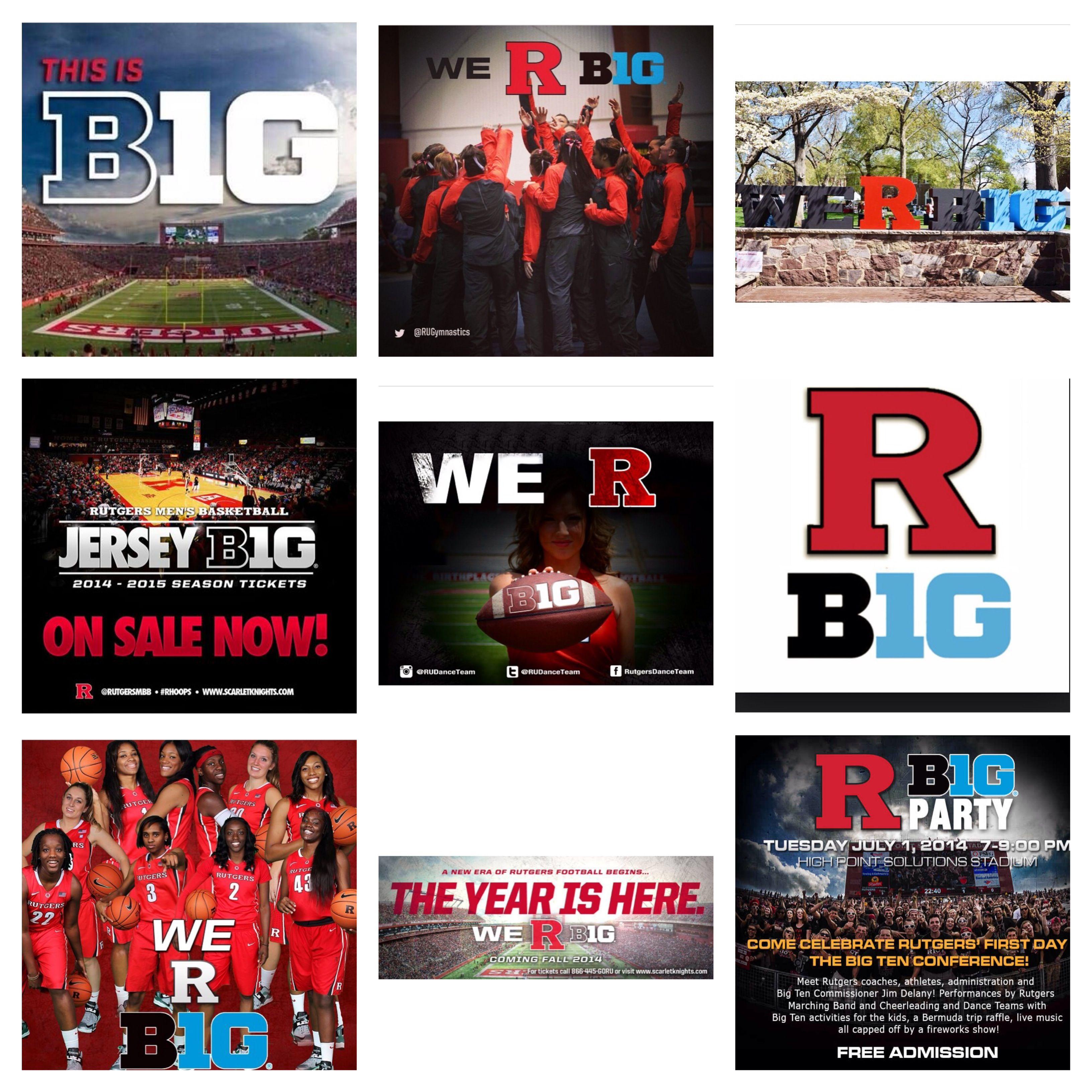 We R Loving All The B1g Posts Congrats To Everyone At Rutgers University For Officially Joining The Big Ten Conferen Rutgers University Big Ten Season Ticket