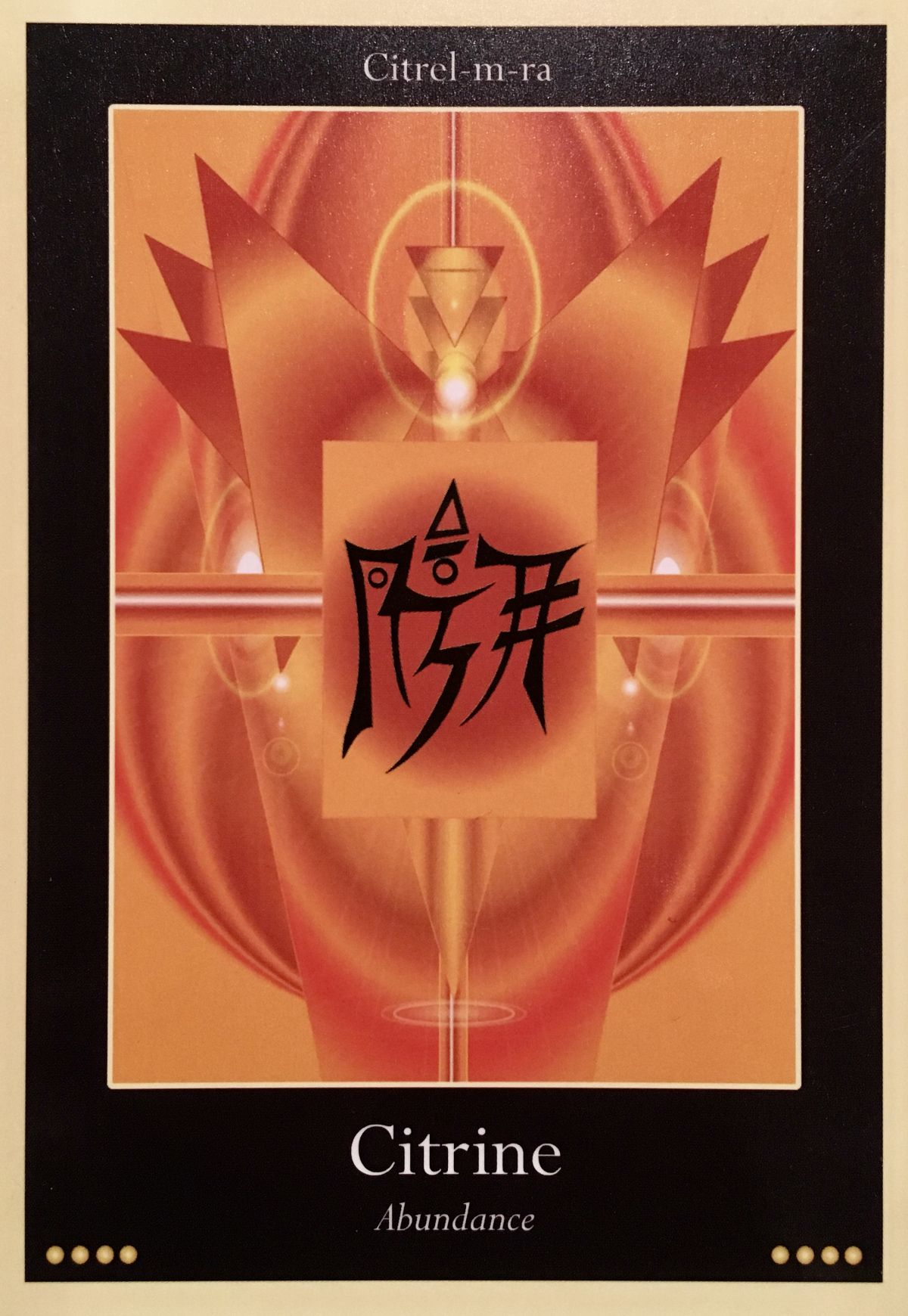 Citrine ~ Abundance, from the Liquid Crystal Oracle Card deck, by Justin Moikeha Asar