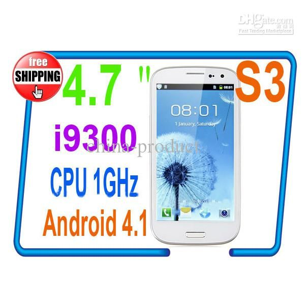 Wholesale Drop Ship Cell Phone S3 i9300 4 7 Inch 9300