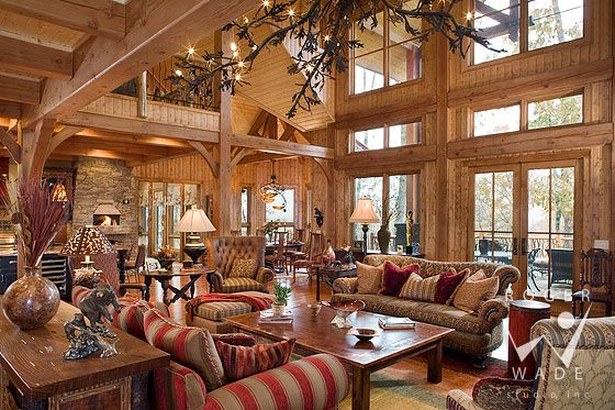 Roger Wade Studio Interior Design Photography Of Timber Frame Home Great  Room, Private Residence, Cashiers, North Carolina, By Mosscreek