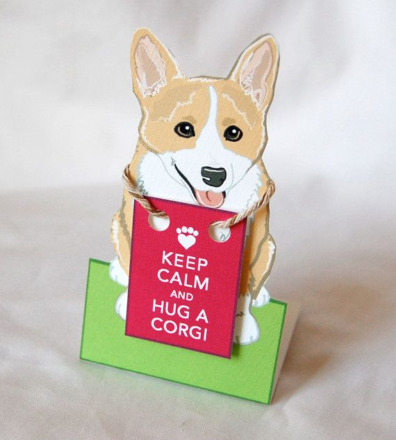 keep calm corgi. desk decor