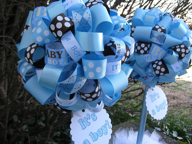 Blue And Brown Baby Shower Lala Its A Boy Baby Shower