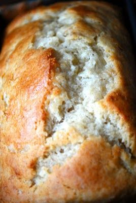 coconut banana bread --look at that delicious split top crust!