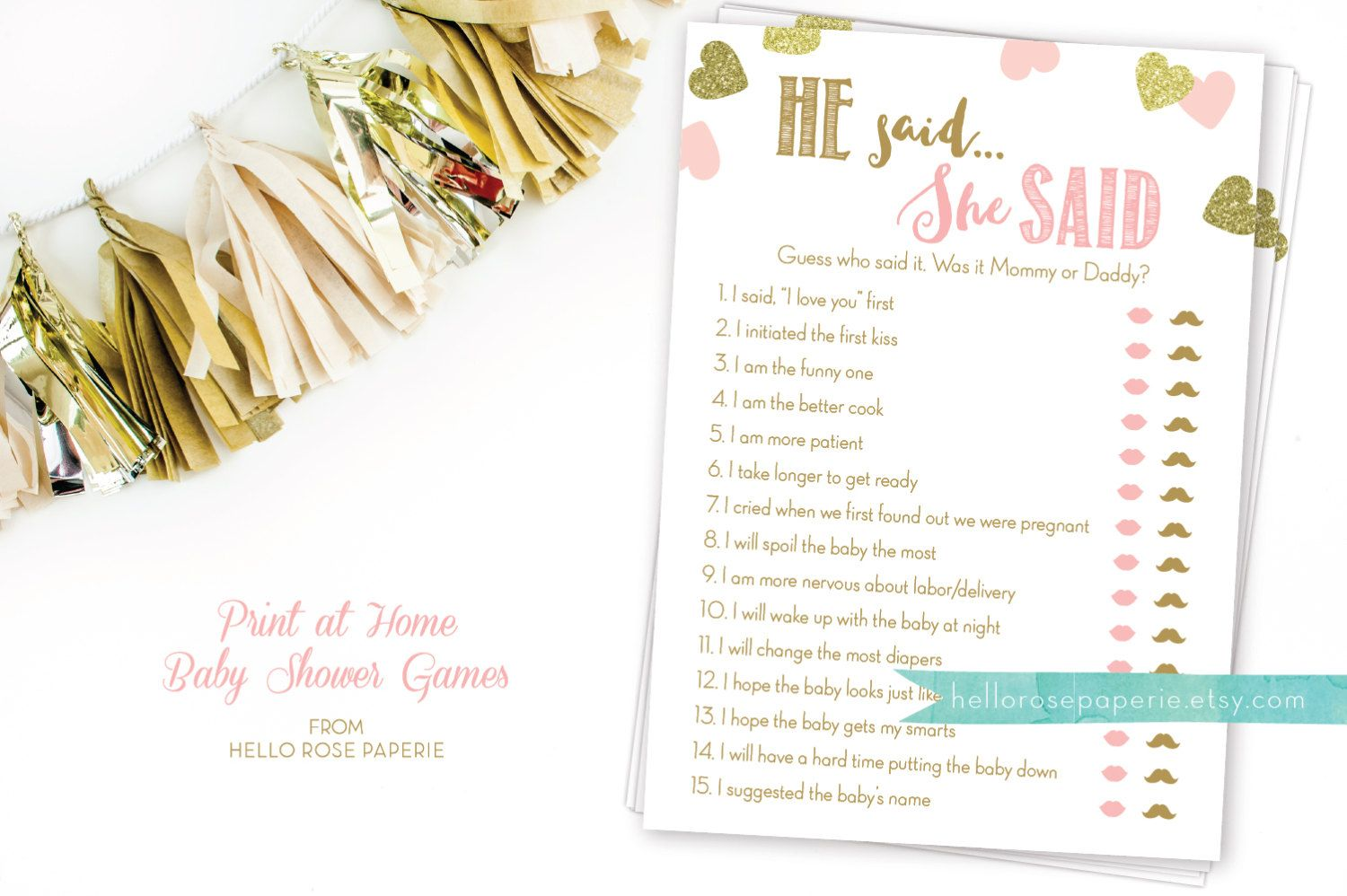 Baby Shower Games · He Said She ...