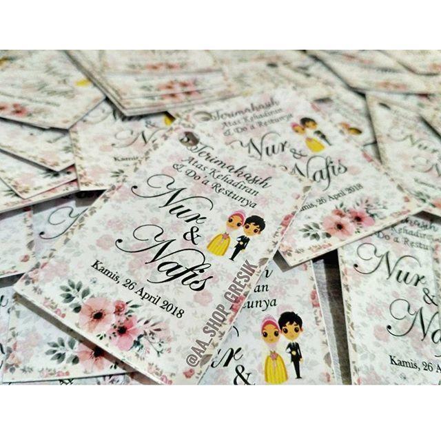 Kartu Ucapan Terimakasih Untuk Di Gantung Di Souvenir Pernikahan Nur