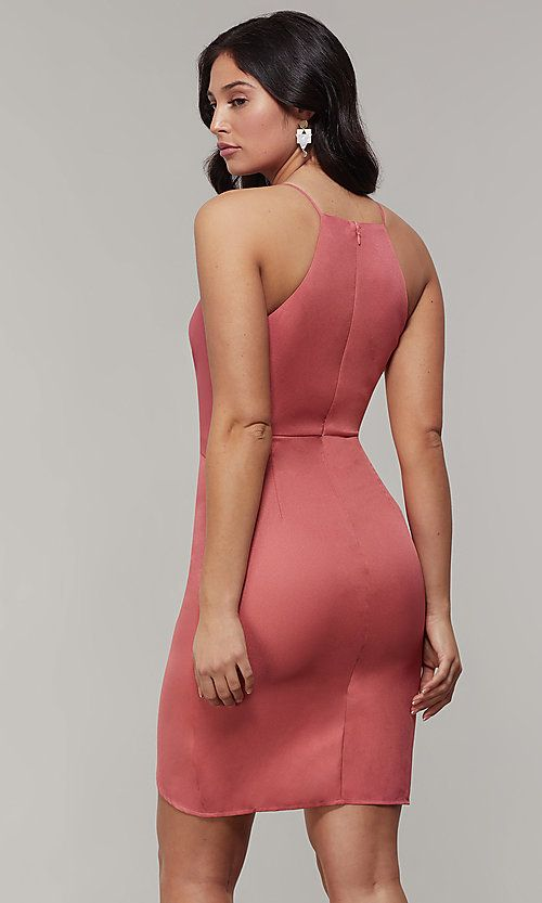 Short Wedding-Guest Party Dress with Tied Waist