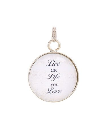 Another great find on #zulily! Silvertone 'Live The Life You Love' Bubble Charm #zulilyfinds