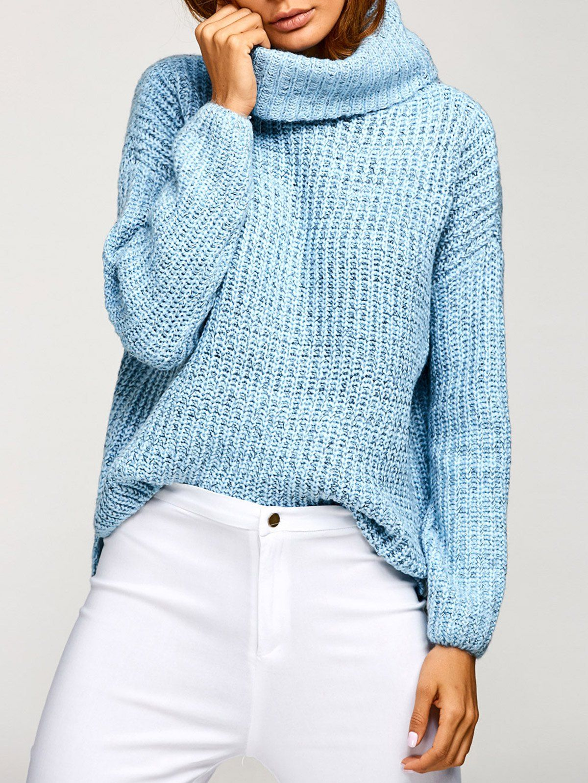 Cowl Neck Pullover Oversized Sweater | Cowl neck, Pullover and Clothes