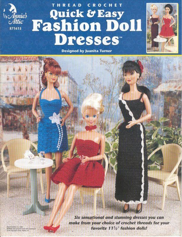 Barbie, Fashion Doll, CROCHET, pattern http://knits4kids.com ...
