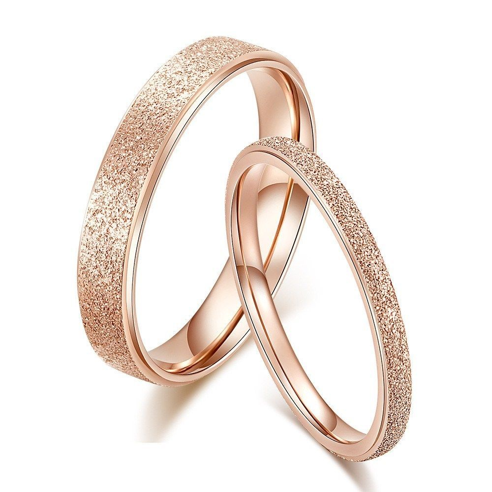 18k Rose Gold Silver Tail Ring Men Women S Titanium Steel Couple
