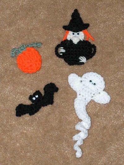 halloween magnets free crochet pattern - Google Search Halloween - patterns for halloween decorations