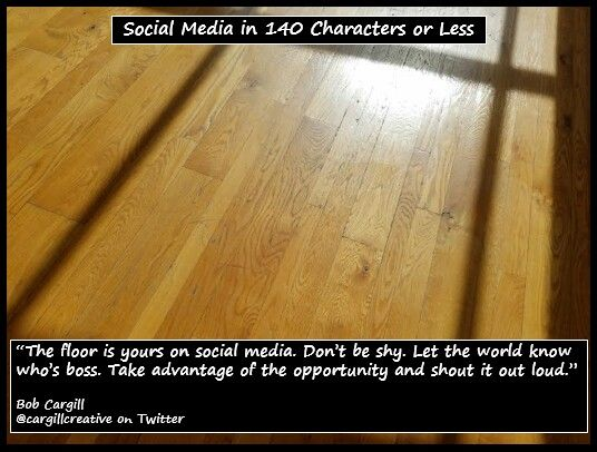 The floor is yours on #SocialMedia...