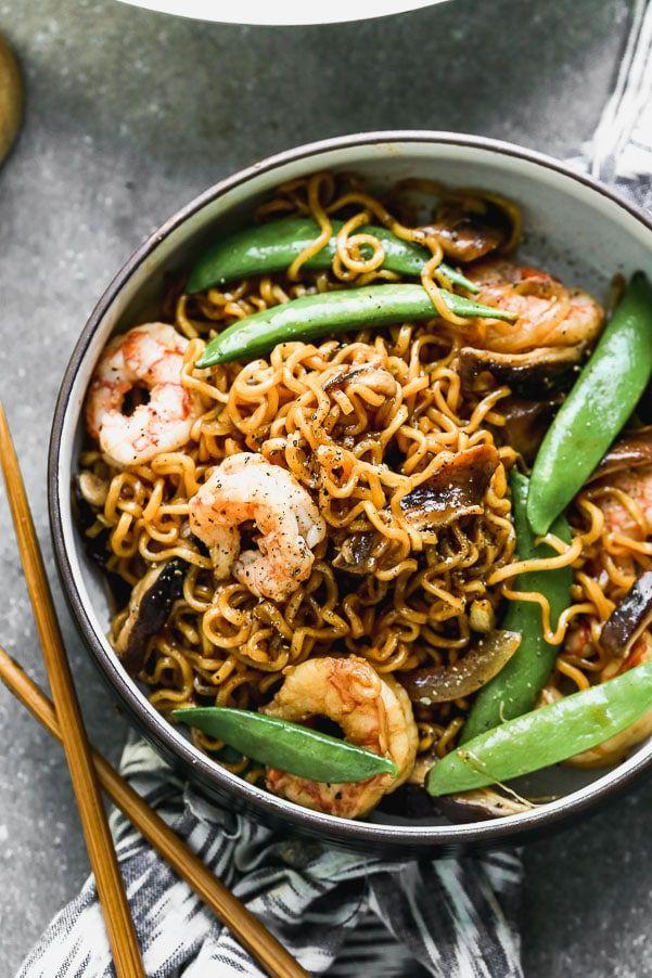 Shrimp Ramen Stir Fry - Cooking for Keeps