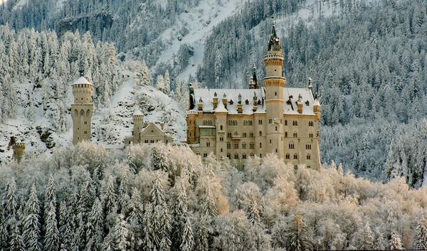 Neuschwanstein Castle. Germany. By WaveCult The castle, whose construction began in 1896, was designed by Christian Jank, a theatrical set designer rather than an architect, for Ludwig II of Bavaria who was declared insane before the castle's completion. This explains a lot. The architecture, the location and the size of the Neuschwanstein are spectacular and somewhat crazy. Situated on a rugged hill, in southwest Bavaria, today the castle is one of the country's most popular tourist…
