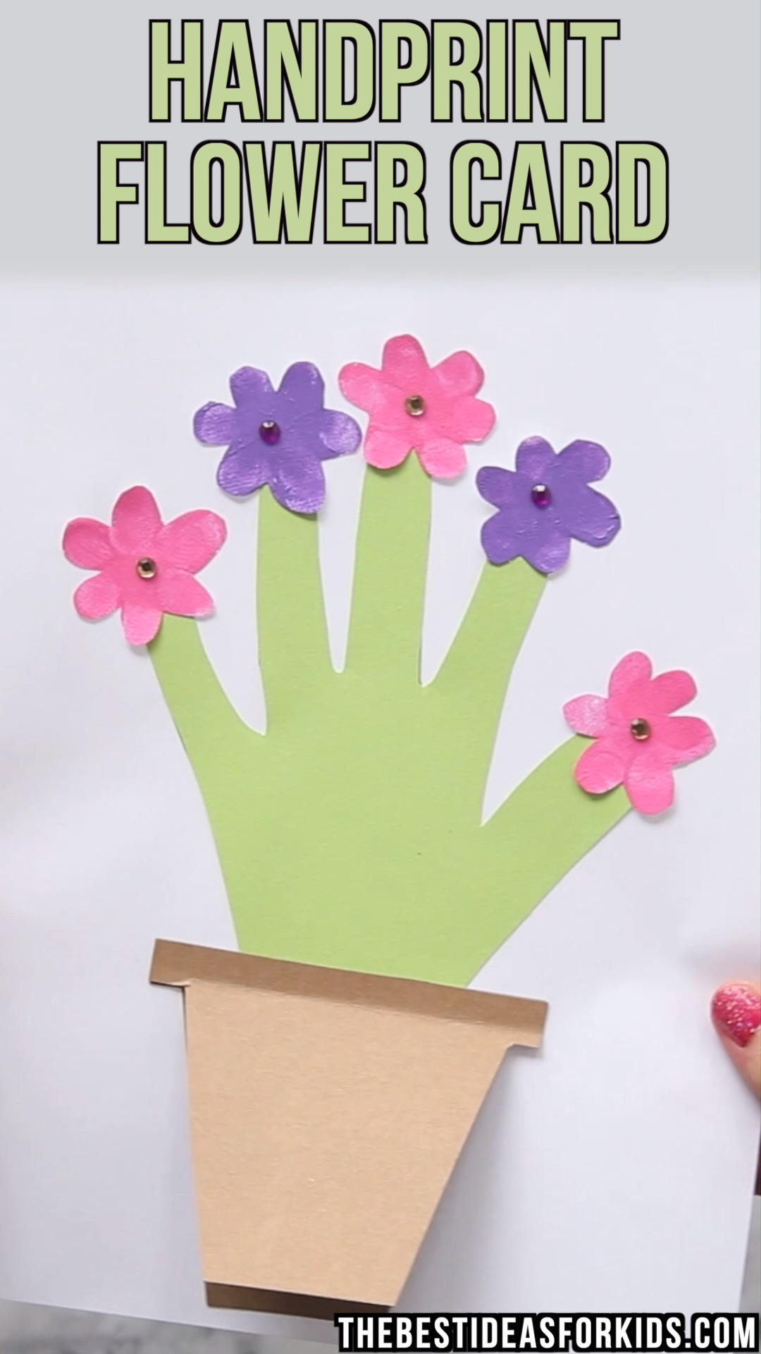 HANDPRINT FLOWER CARD ???? #craftsforkids
