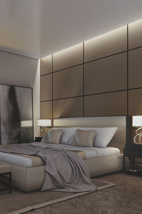 Penthouse in berlin by ando studio bedroom decor ideas for Luxury modern bedroom