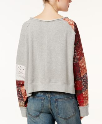 Free People Suns Out Cotton Off-The-Shoulder Sweater - Pink XS