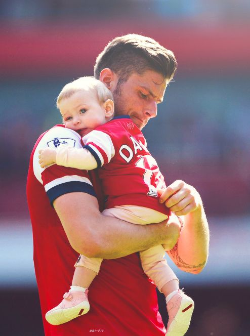 Last Home Game Of The Season Olivier Giroud And Little Cutie Pie