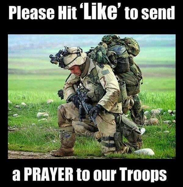 what to say to soldiers