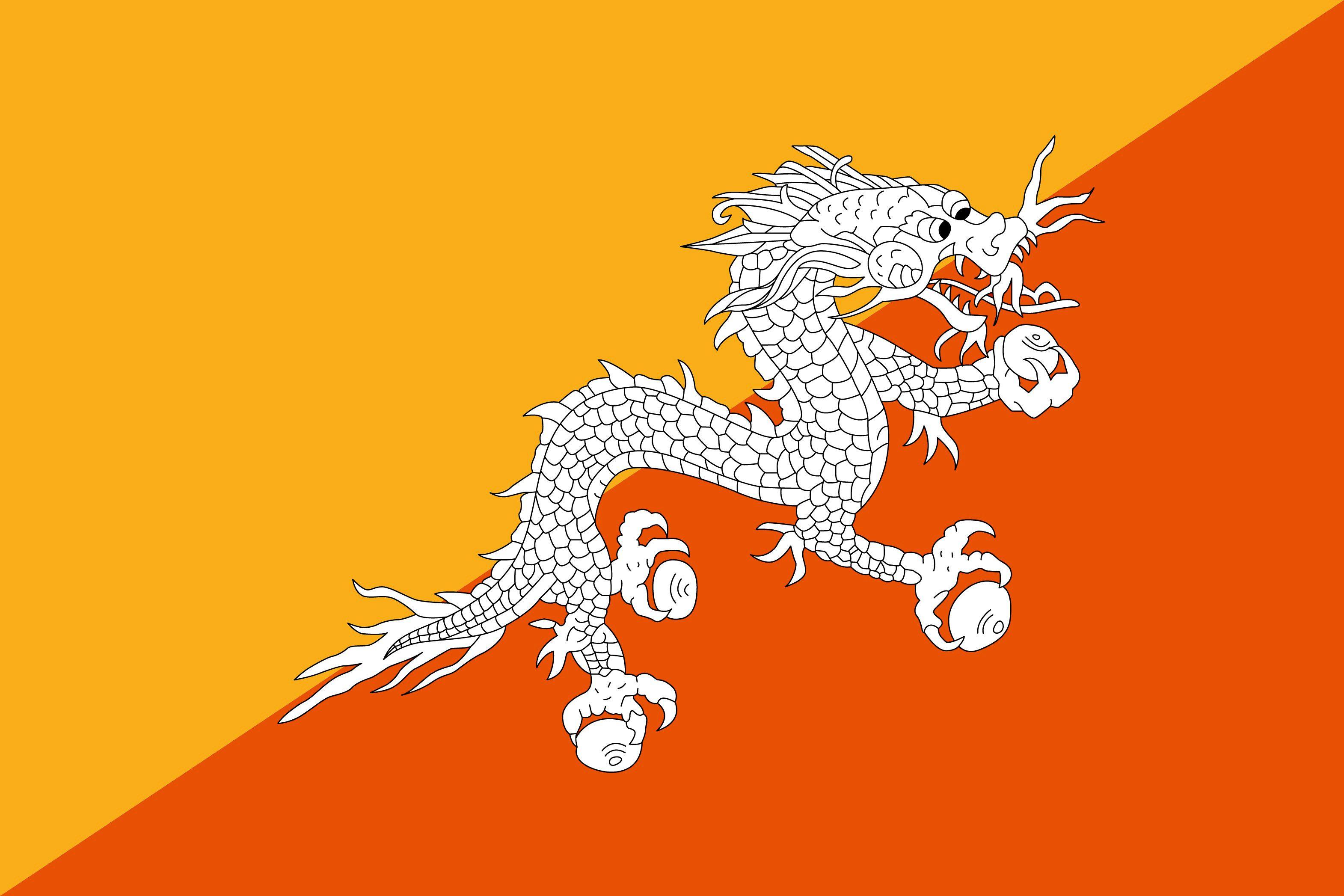 Bhutan Flag Bhutan Flag Flags Of The World Flag