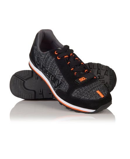#superdry Superdry men's Superweave runner trainers. These lace up trainers  feature a plastic heel
