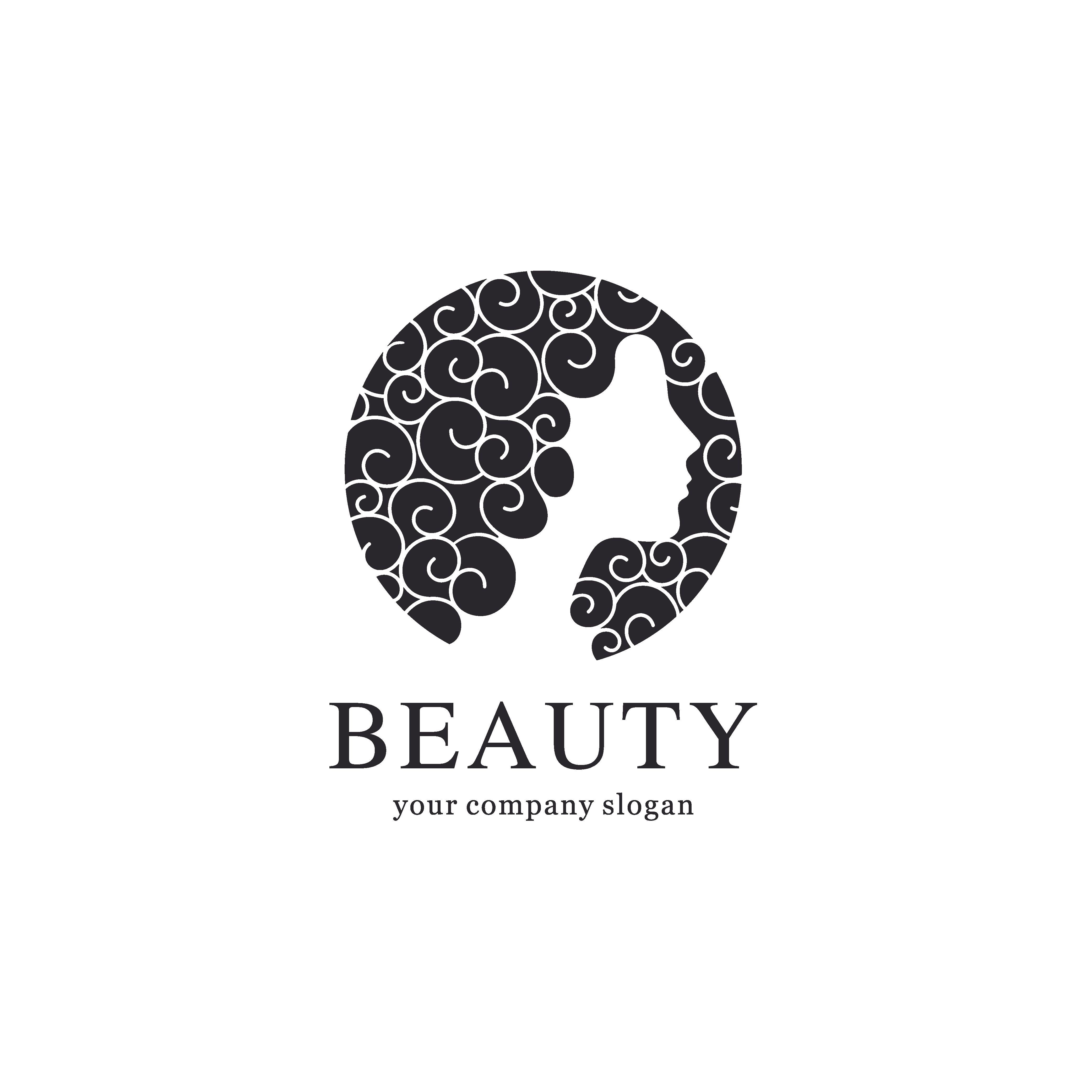 Beauty salon vector logo template Логотип салона красоты