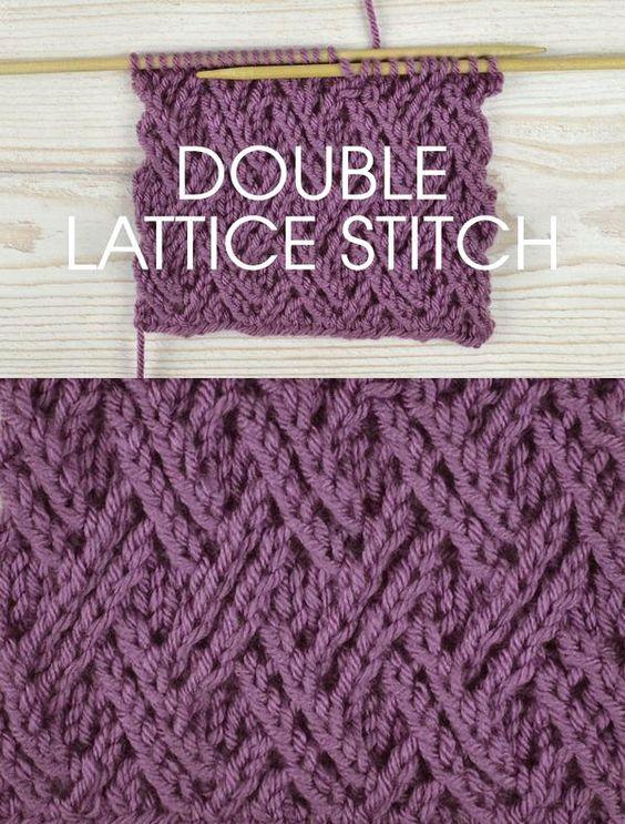 Stitch of the Week: Double Lattice Stitch   Pinterest   Bricolage ...