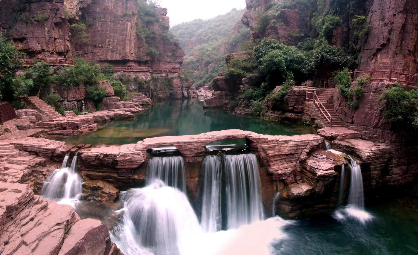 The Waterfalls of Global Yuntai Mountain Geological