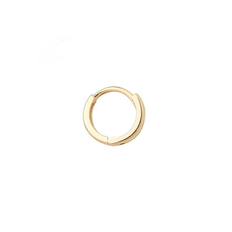 bd27b049e336c 6mm Huggie Hoop Earring- 14K Gold | Earrings | Hoop Earrings, Silver ...
