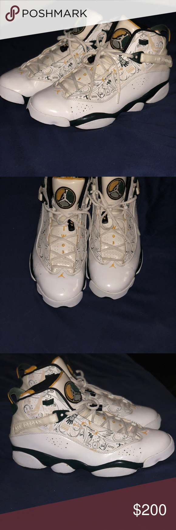 ba20bd8fa1ac ... promo code for jordan championship six rings supersonics size 12 worn.  8 10 shoes only