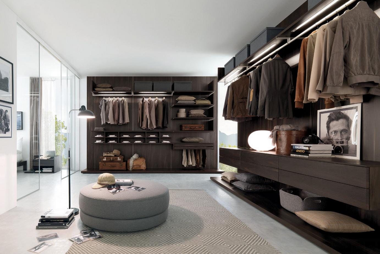 Modern italian master walk in closet custom closet