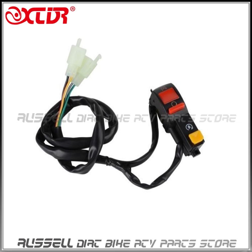 Kill Switch Electric Start Button 4 Wire Connection For Monkey Bikes Pit Bike Ignition Kit Coil Cdi Killswitch Loom Electrics And Quads Atv