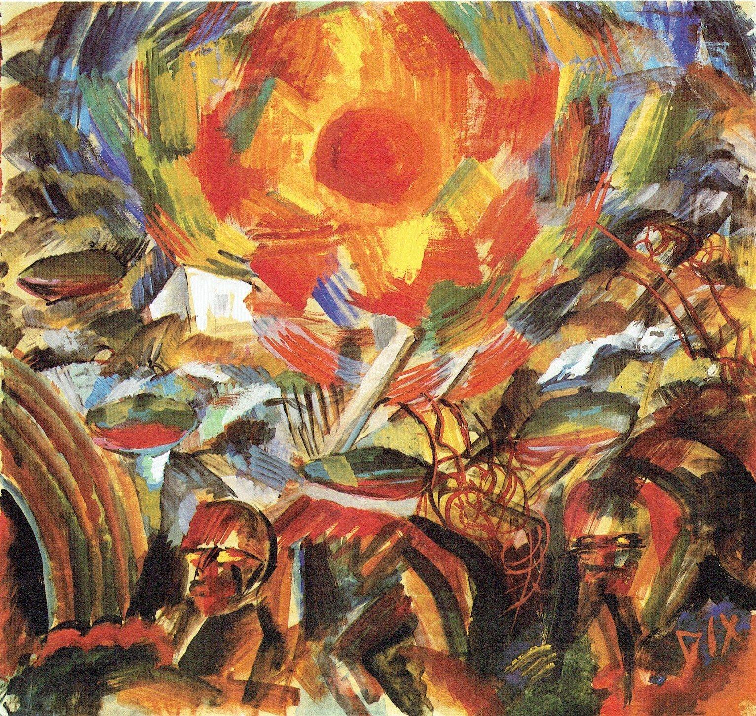 Otto Dix - Sole al tramonto (Ypern), 1918