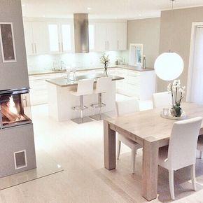 paleta de colores y unificar cocina con comedor dec kitchen pinterest haus offene k che. Black Bedroom Furniture Sets. Home Design Ideas