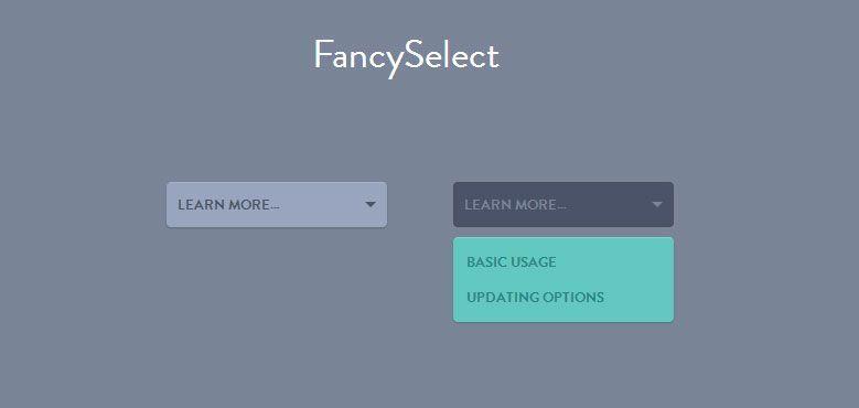 Fancyselect A Better Beautiful Select Tutorials Designify Tutorial Design Tutorials Web Design