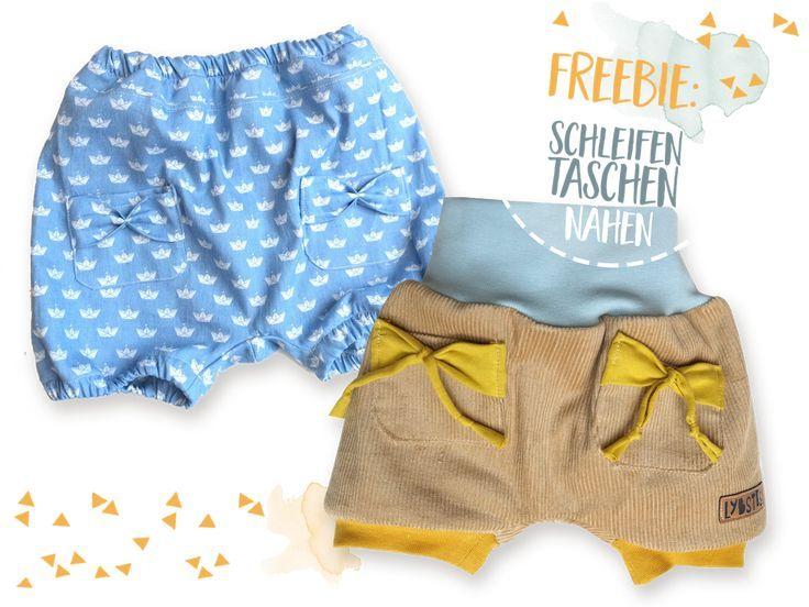 FREEBOOK: Kurze Pumphose für den Sommer nähen (Gr. 56-116)! – Lybstes. – Stacha Styles