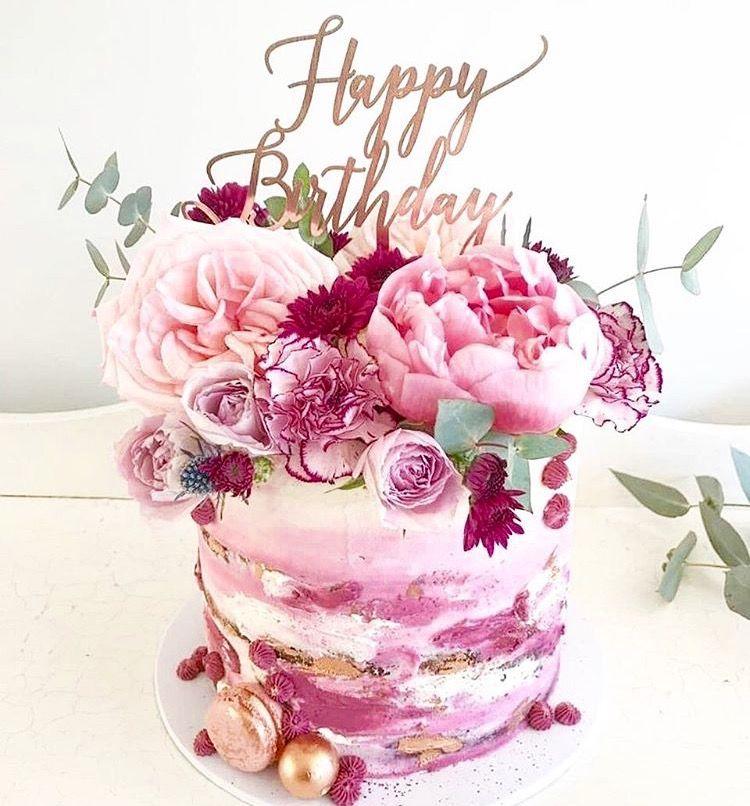 Hey There Birthday Girl Enjoy Love Joan Ken Birthday Cake With Flowers Birthday Cake Decorating Beautiful Birthday Cakes