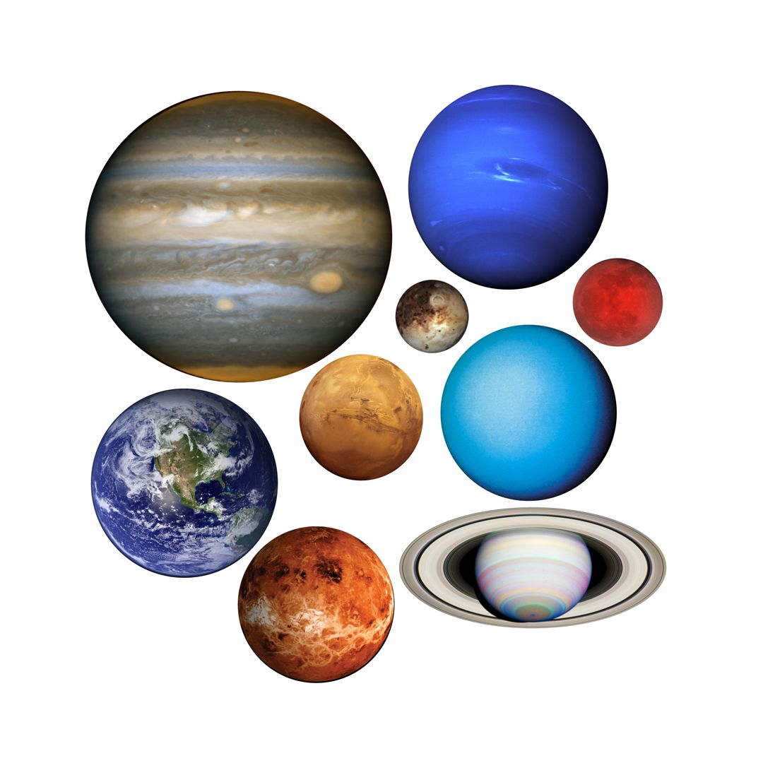 This Set Of Decals Include All The Planets Of Our Solar System The Sizes Vary From One To Anoth Solar System Wall Decal Space Themed Bedroom Space Themed Room