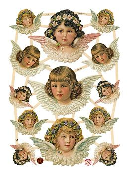 Scrap Pictures Shop: EF7315 Cherubic Angel Heads, EF Scraps Germany on Blumchen.com