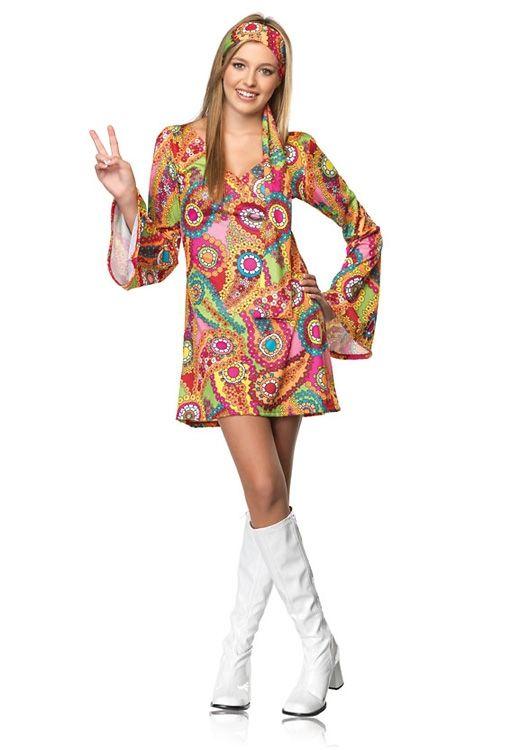 Leg Avenue Orange Pink Green Junior Retro Hippie Chick 70u0027s Flower Child Costume  sc 1 st  Pinterest & Leg Avenue Orange Pink Green Junior Retro Hippie Chick 70u0027s Flower ...