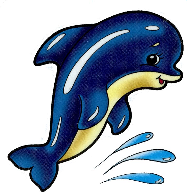 Веселый дельфин рисунок