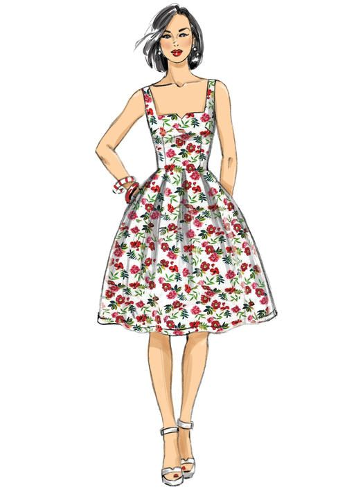 Butterick B6556 Misses\' Dress Pattern by Gertie #sewingpattern ...