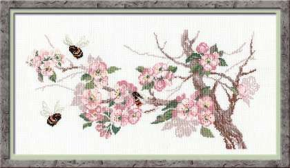 Counted Cross stitch kit from Riolis collection flowers by B7Yarn