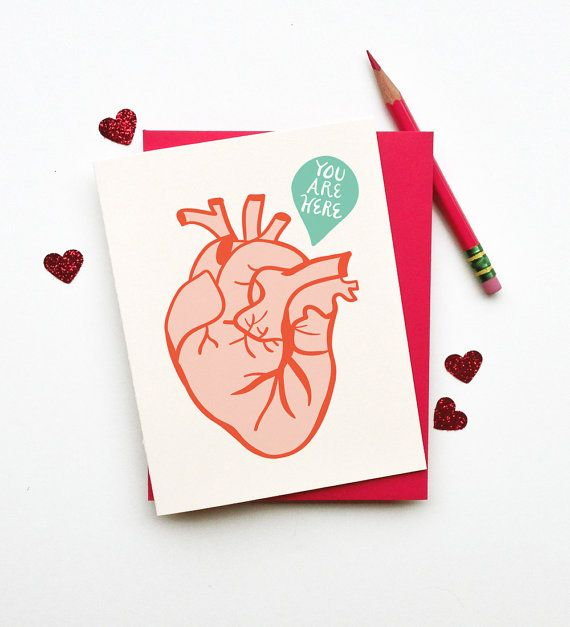You Are Here Card | Pinterest | Estoy aquí, El corazon y Tarjetas